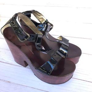 Giuseppe Zanotti Design platform sandals. Size 8